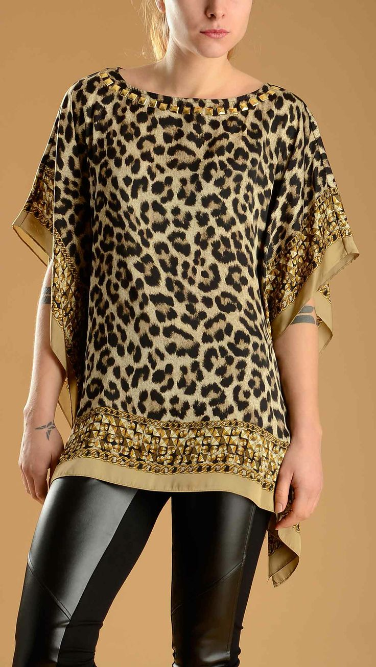 Very cool this leopard print short sleeve tunic!!!!