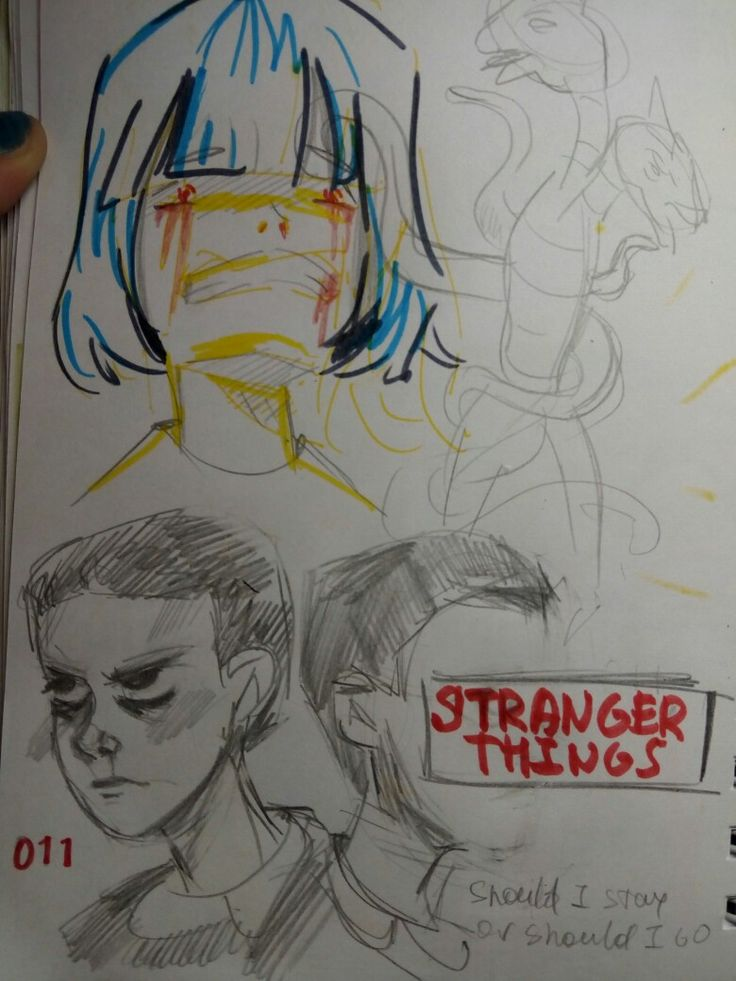 011 #strangerthings #011 #netflix #drawing #sketch