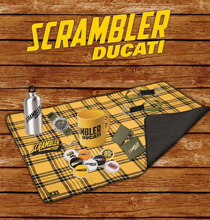 #Scrambler #Ducati #Accessories available at #GTMotorcycles soon! #flask #keyring # lighter #motorbike #Landofjoy #picnic #wood