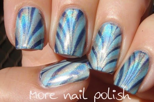 31 Day Challenge - Day 20 - Watermarble ~ More Nail Polish