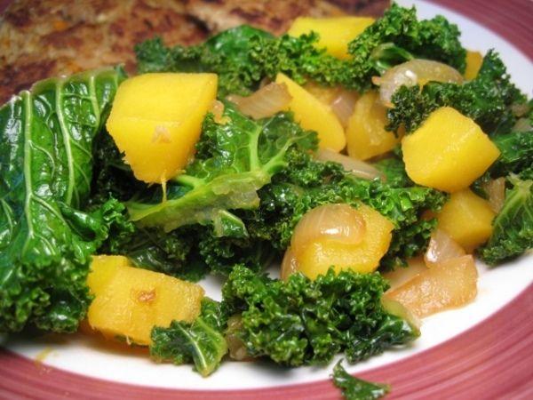 Sauté de kale et courge - Les recettes de Geccoe