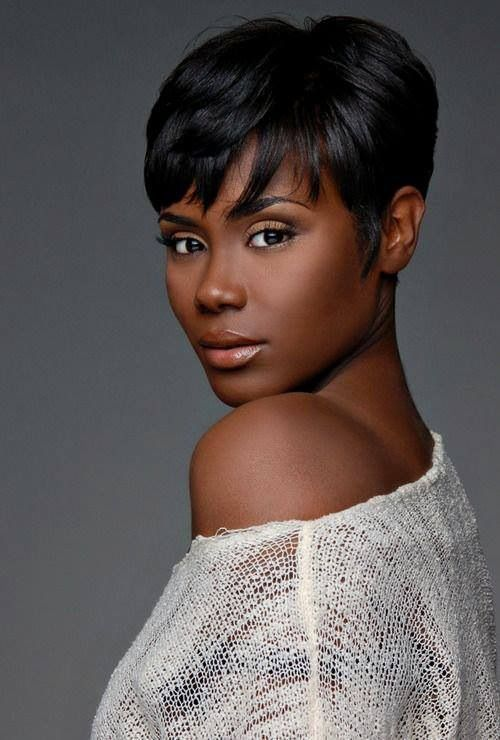 Simple Short Haircut for African American Women