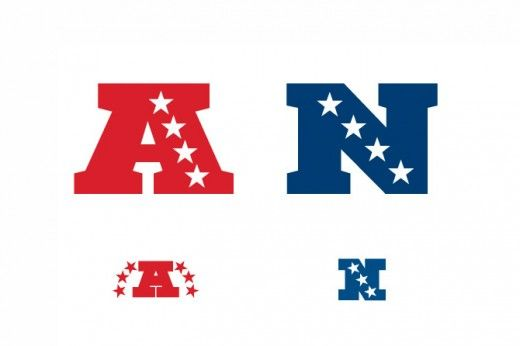 Logo das Conferencias Americana e Nacional da NFL.