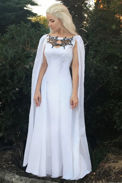 The Best Khaleesi Costumes We've Ever Seen  #refinery29  http://www.refinery29.com/2016/09/122141/khaleesi-halloween-costumes-daenerys-targaryen#slide-31  This all-white Daenerys getup is downright ethereal. ...