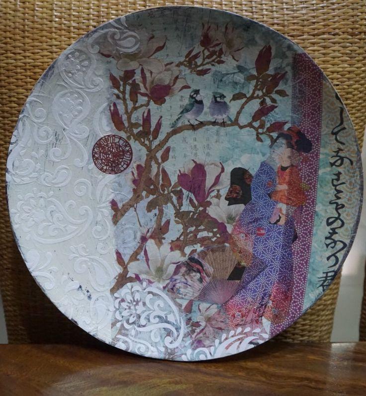 Decoupage Beautiful Plate