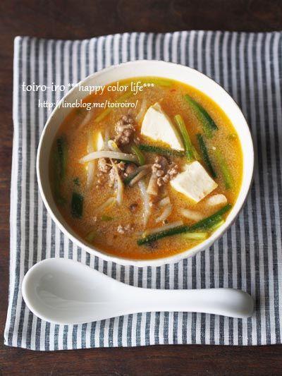 麺に良く合う!ピリ辛!坦坦スープ