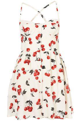 TOPSHOP Cherry Glitter Sun Dress