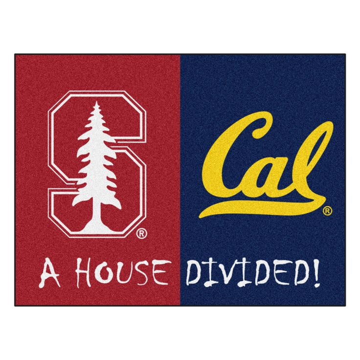 Stanford Cardinals vs Cal Golden Bears Rivalry Rug