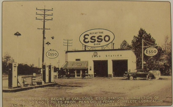 1940 S Esso Gas Station New Jersey Usa New Jersey
