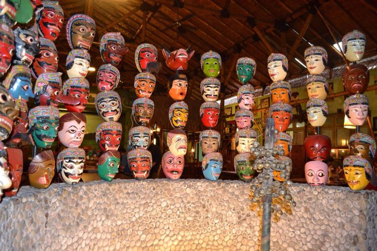 The mask collection at the artistic restaurant 'Inggil' at the town. #Malang