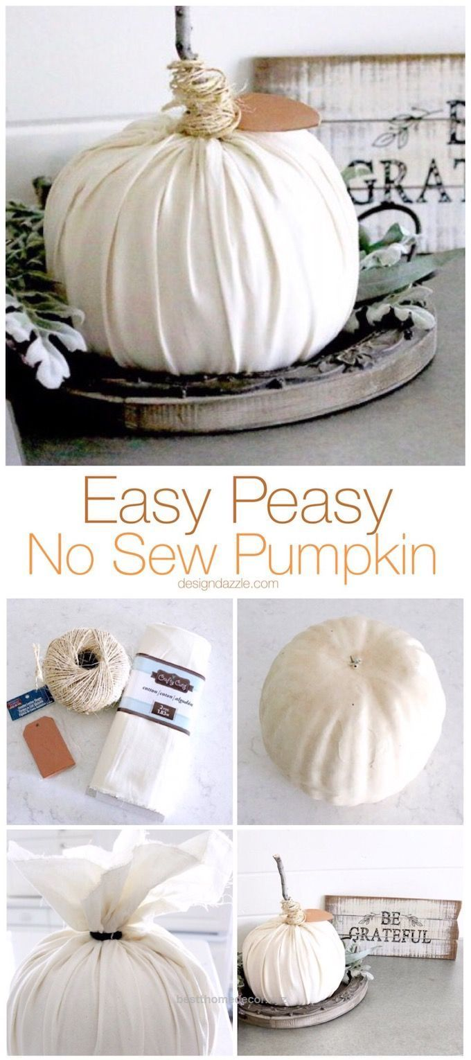 Fantastic Easy peasy is the name of the game with this no sew pumpkin. This is so simple that even kids would enjoy making these pumpkins with you!   DIY pumpkin tutorial   fall inspired DIY ideas ..