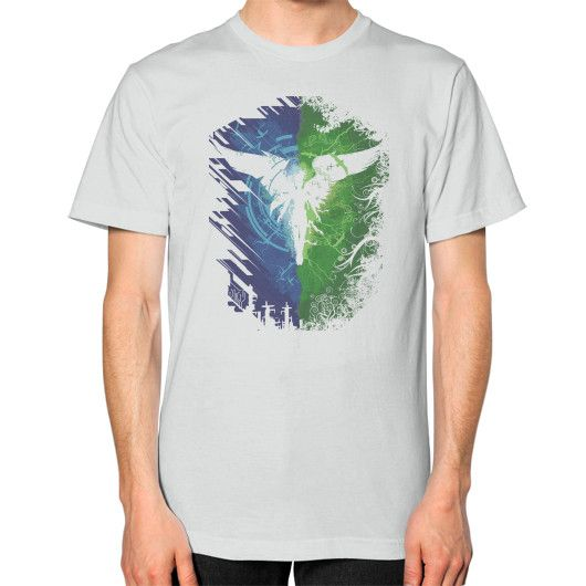 Techno Fantasy Unisex T-Shirt (on man)