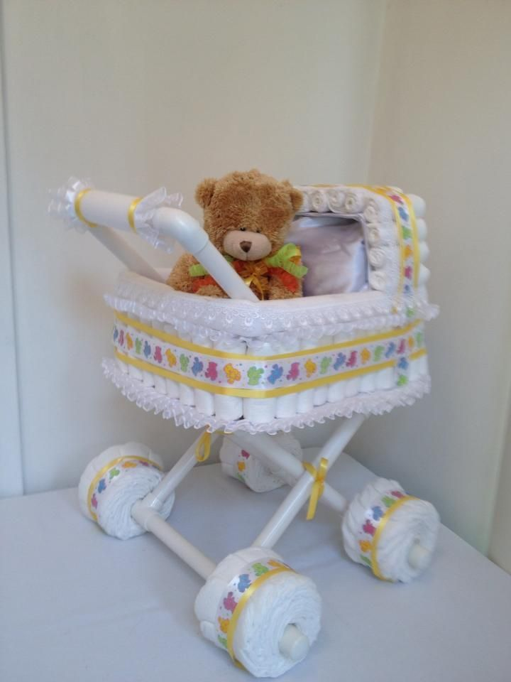 http://www.pinterest.com/loveableeve/baby-showers/  diaper stroller: