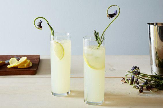 Lemon Lavender Gin Rickey, a recipe on Food52