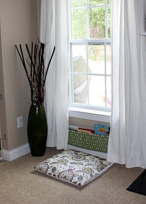 You can create a reading nook anywhere, you don't need a big space