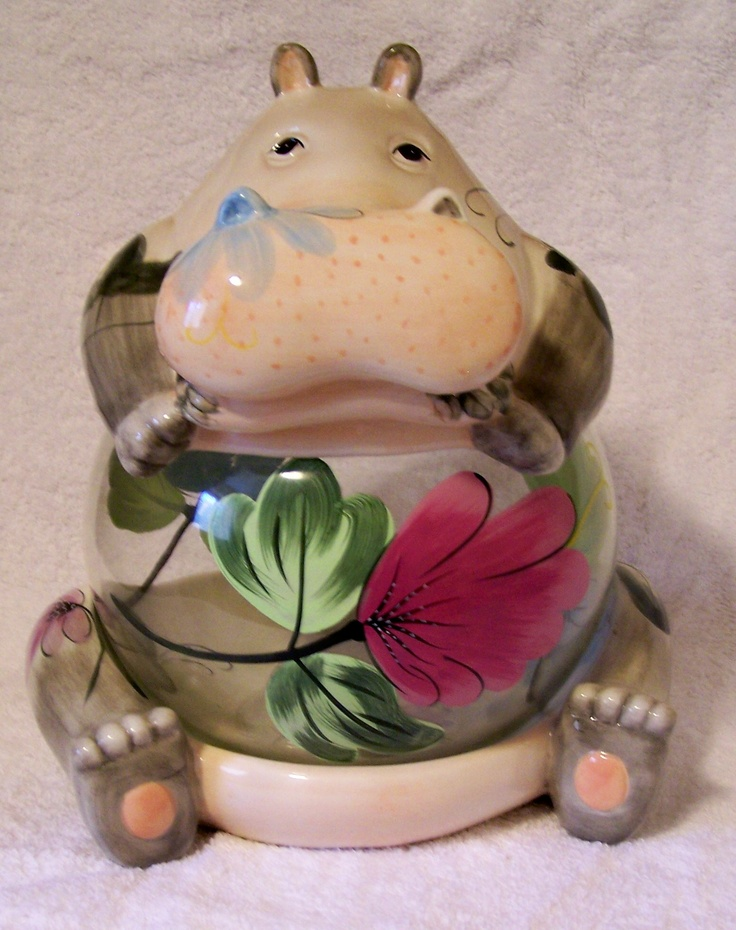 Hippo Cookie Jar .... That's what happens when u use the cookie jar too by the way