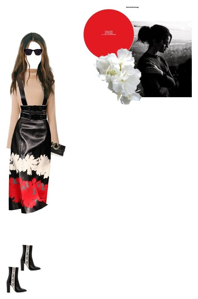 """""""selena going to brunch in manhattan"""" by kadiadams ❤ liked on Polyvore featuring Valentino, Roberto Cavalli and Havva"""