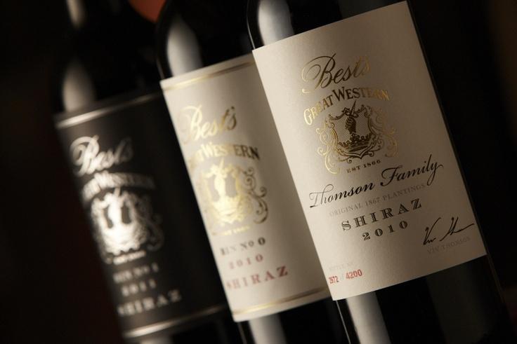Three of our iconic Shiraz's. Our 2011 Bin 1, 2010 Bin 0 and 2010 Thomson Family Shiraz.