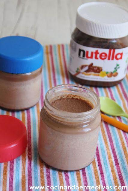 Yogures de Nutella. Receta paso a paso.