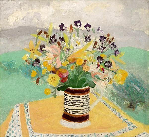 Winifred Nicholson, Cumberland Flowers, 1946.