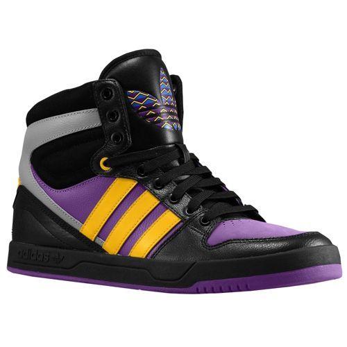 adidas Originals Court Attitude - Men's - Basketball - Shoes - Ray Purple/Ray  Yellow