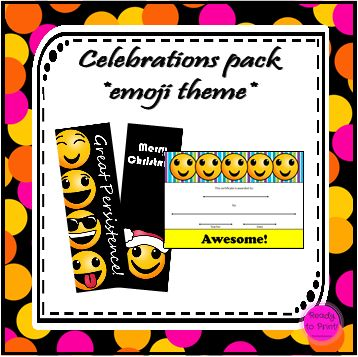 Celebrate your students with this pack!  It caters for assemblies, general occasions, birthdays and Christmas.  Print, laminate and have a stash of these ready from the start of the year.  Ideal for class...