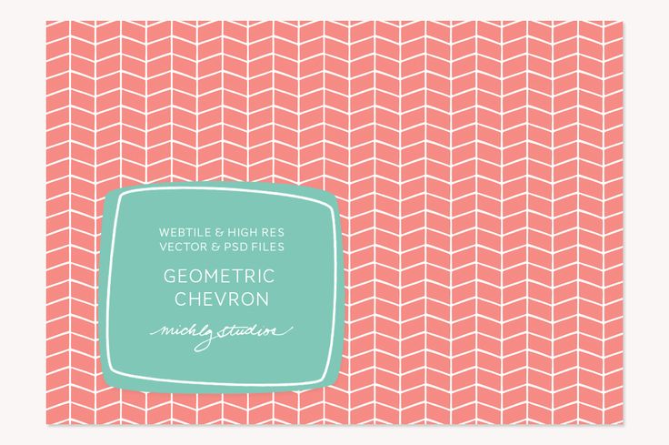 VECTOR & PSD Geometric Chevron tile& by michLg studios on @creativemarket