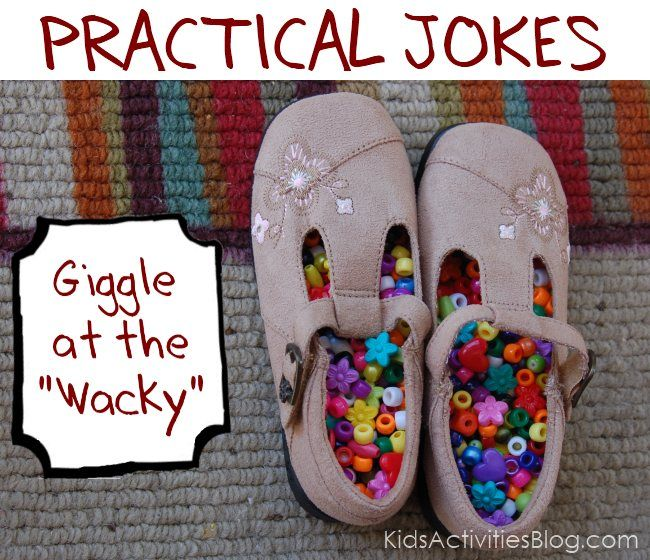 A dozen practical jokes to do on your kids - make them giggle at the unexpected. April Fools ideas