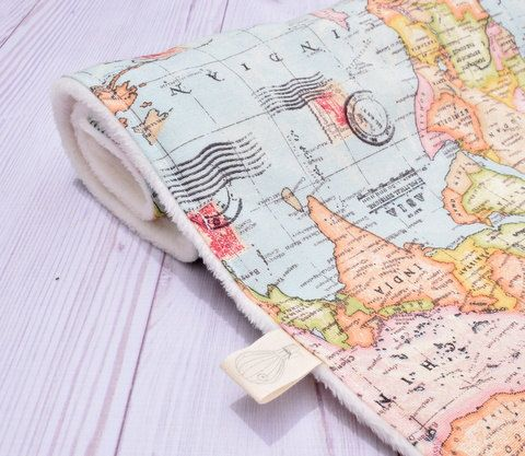 welcome to the world blanket, baby blanket, world map, minky balnket, baby shower gift, adventure theme, traveler theme, new baby gift