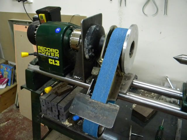 Lathe attachment for bench grinder multi-tool