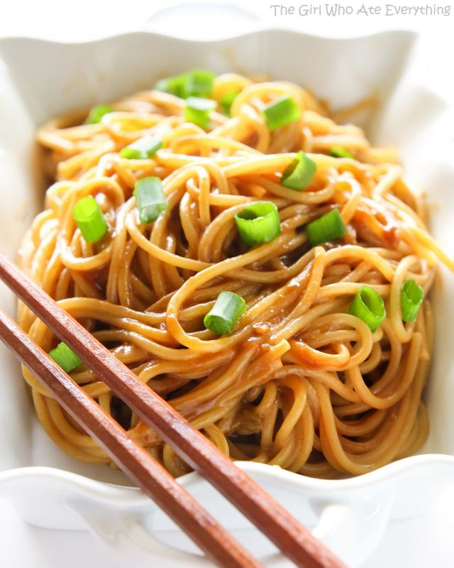 Noodles with Peanut Sauce - by OnlineRecipe.club