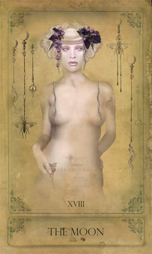 The Sepia Stains Tarot - The Moon (wish this was available for purchase, it's a gorgeous deck!)