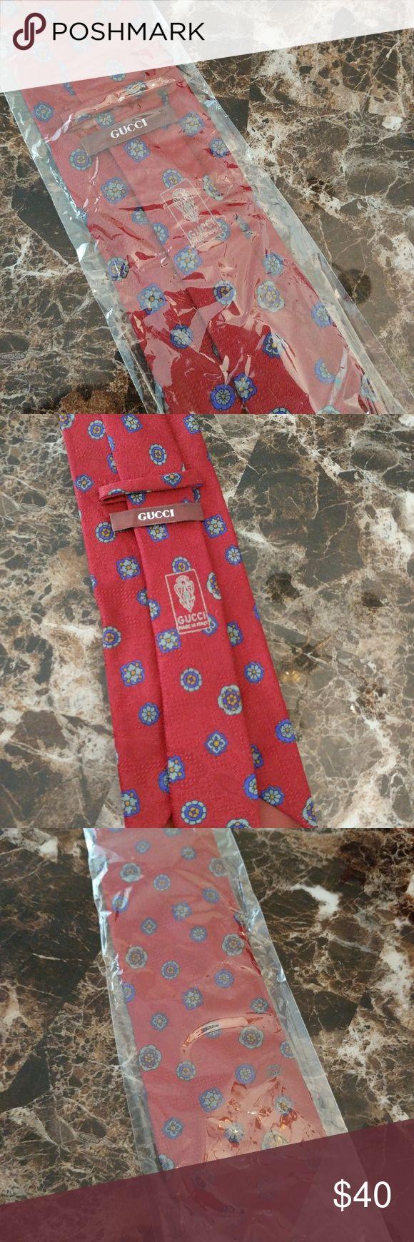 Men's Gucci Necktie 100% Silk, Made In Italy. Gucci Accessories Ties