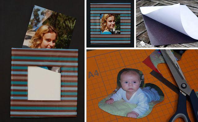 Heute zeige ich euch, wie ihr eure eigenen Foto - Magneten  mit Hilfe von selbstklebender Magnetfolie und einem Foto selber herstellen...