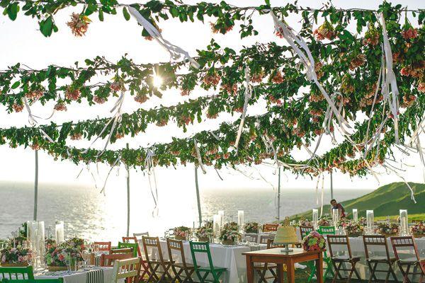 Sunset Wedding Reception   http://brideandbreakfast.ph/2015/07/02/bejeweled-in-batanes/   Photography:MangoRed