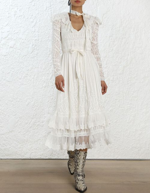 9d0780eae2a Zimmermann Tempest Flutter Dress. Model Image.
