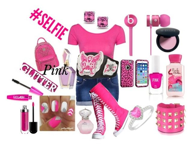 """""""Pink #2"""" by sonjahardy ❤ liked on Polyvore featuring Quiz, Club L, Beats by Dr. Dre, Valentino, Ice, Bling Jewelry, Victoria's Secret PINK, MCM, Le Métier de Beauté and Pink"""