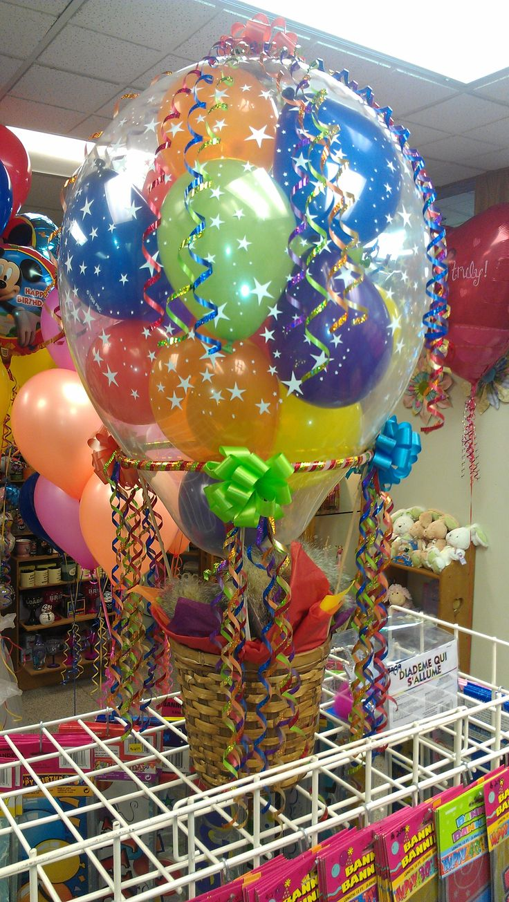 Mini Hot air basket | Balloon decorations and events ...