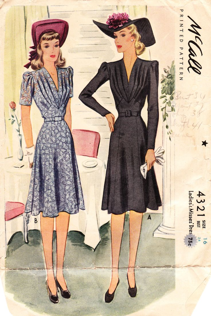 17 Best ideas about Vintage Dress Patterns on Pinterest | Vintage ...