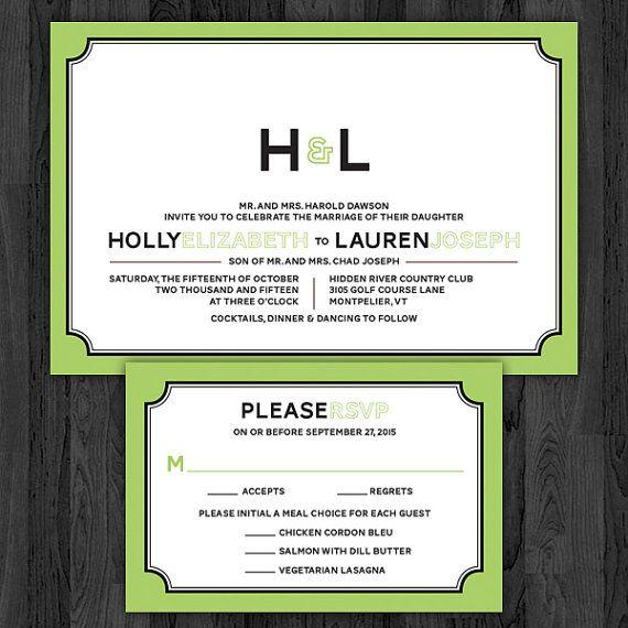 Modern Monogram SameSex Wedding Invitations by InviGAYtions, $3.95
