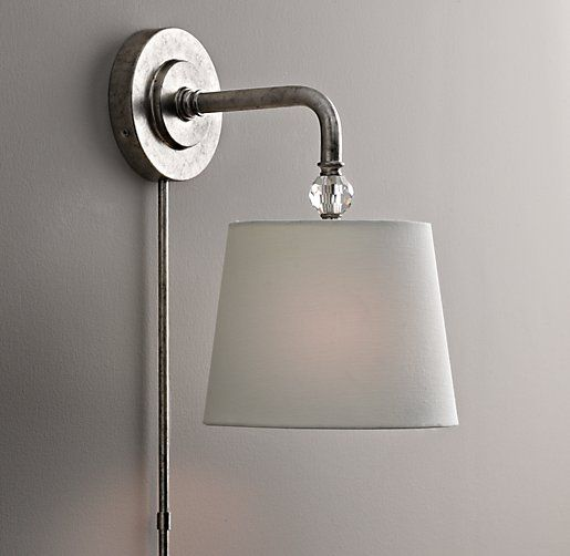 Crystal Wall Sconce Plug In : 1000+ images about Plug in lighting on Pinterest Plugs, Wire pendant and Jonathan adler