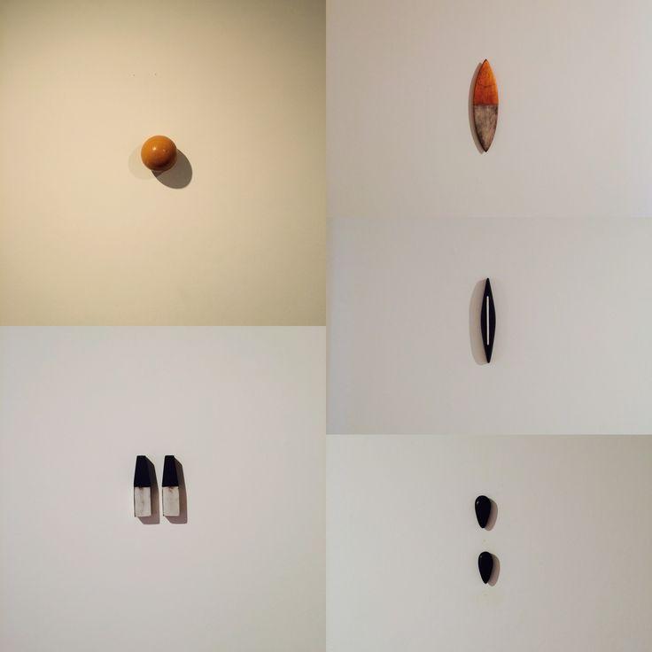 "David Goerk ""Wax Yellow Ball"" (1995), ""Tide"" (1992)-""Hull"" (1989), ""Heckel and Jeckyll"" (1990), ""Endings"" (1995)"