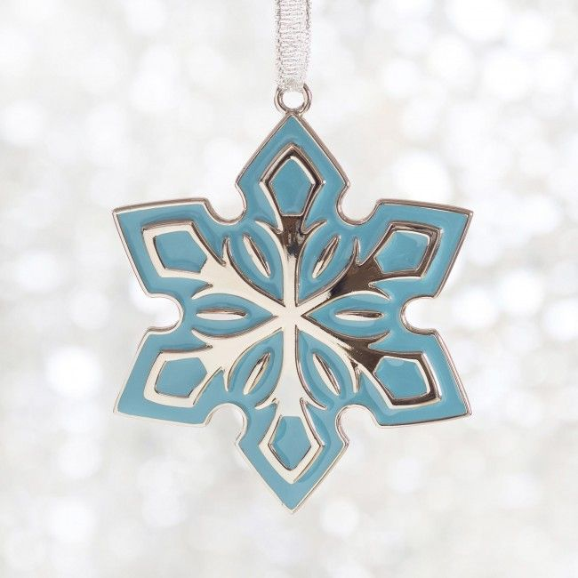 Let it snow with this colourful snowflake ornament.