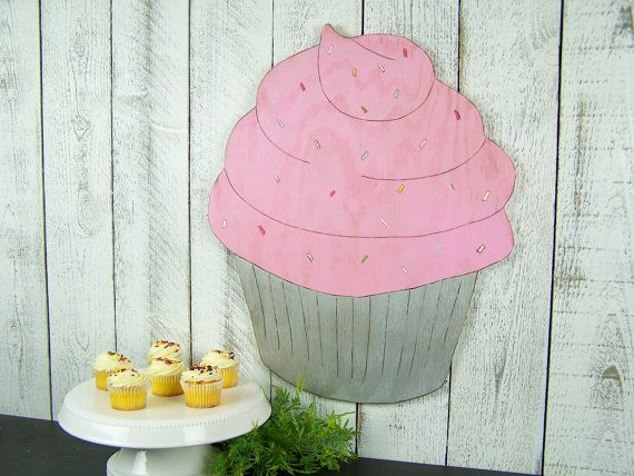 Cupcake Decor Bakery Sign Bakery Decor Wood by PineRidgeDesigns