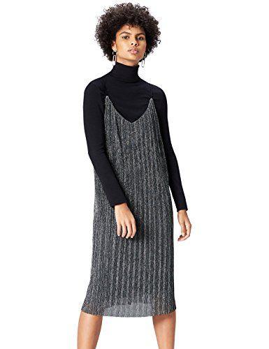 FIND 16779A vestiti da sera donna eleganti Argento (Silber) 48 (Taglia  Produttore  88e65a1d836