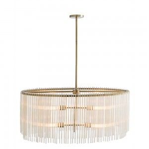 The antique brass plating and uneven ribbed amber glass rods lend a transitional feel to this modern design. The four lights provide plenty of light when hanging over a rectangle dining table. Shown with radio bulbs. Additional pipe available (PIPE-101). Approved for use in covered outdoor areas.