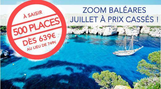 Voyage pas cher Baleares Thomas Cook, promotion pour vos vacances dété aux Baléares dès 639.00 € chez Thomas Cook
