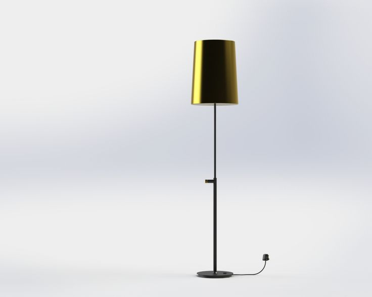 Rendering of the beautiful floor lamp for the guest rooms at Mondrian London