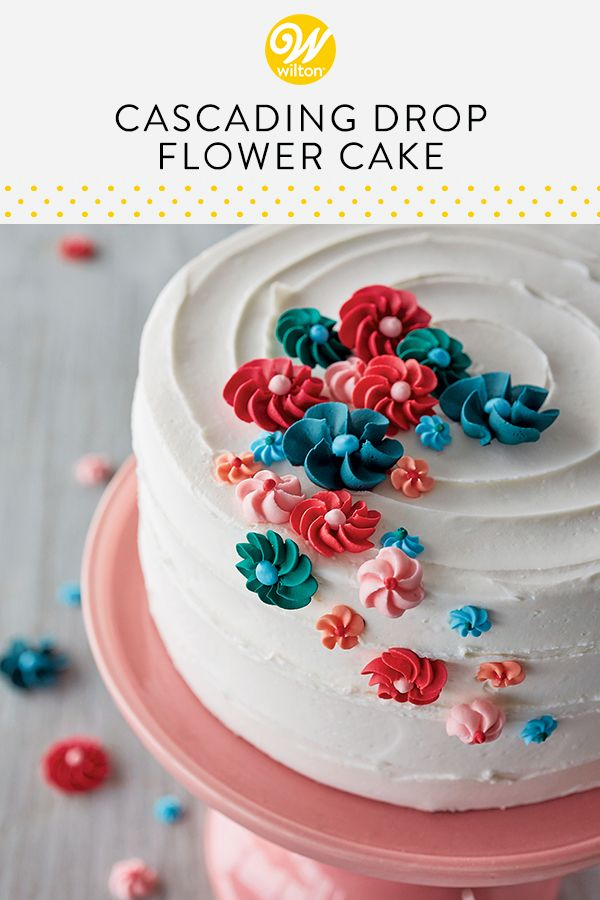 This Lovely Cake Is Blooming With Beautiful Drop Flowers Made