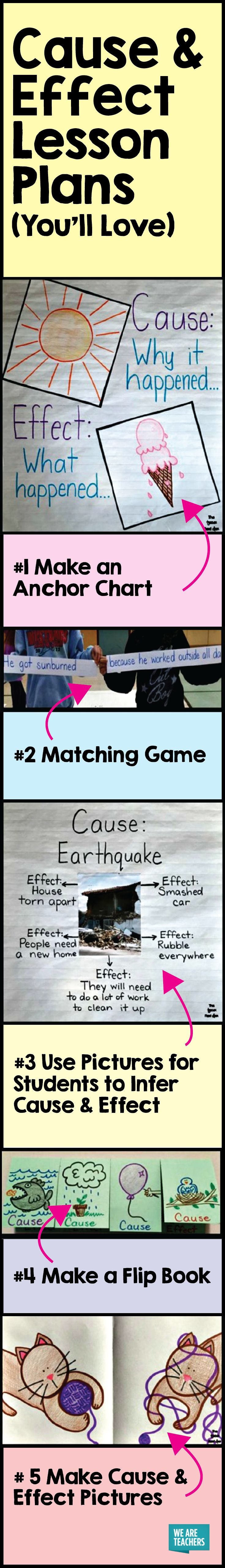 Cause and effect can be a tricky concept to teach, but these fun cause and effect lesson plans will help your kids catch on quickly!